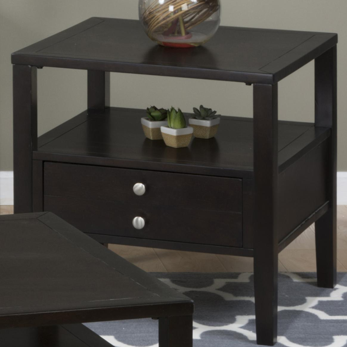 Hamilton Espresso End Table  by Jofran at Pilgrim Furniture City