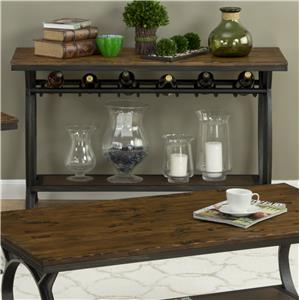 Harper's Press Sofa Table with Wine Rack