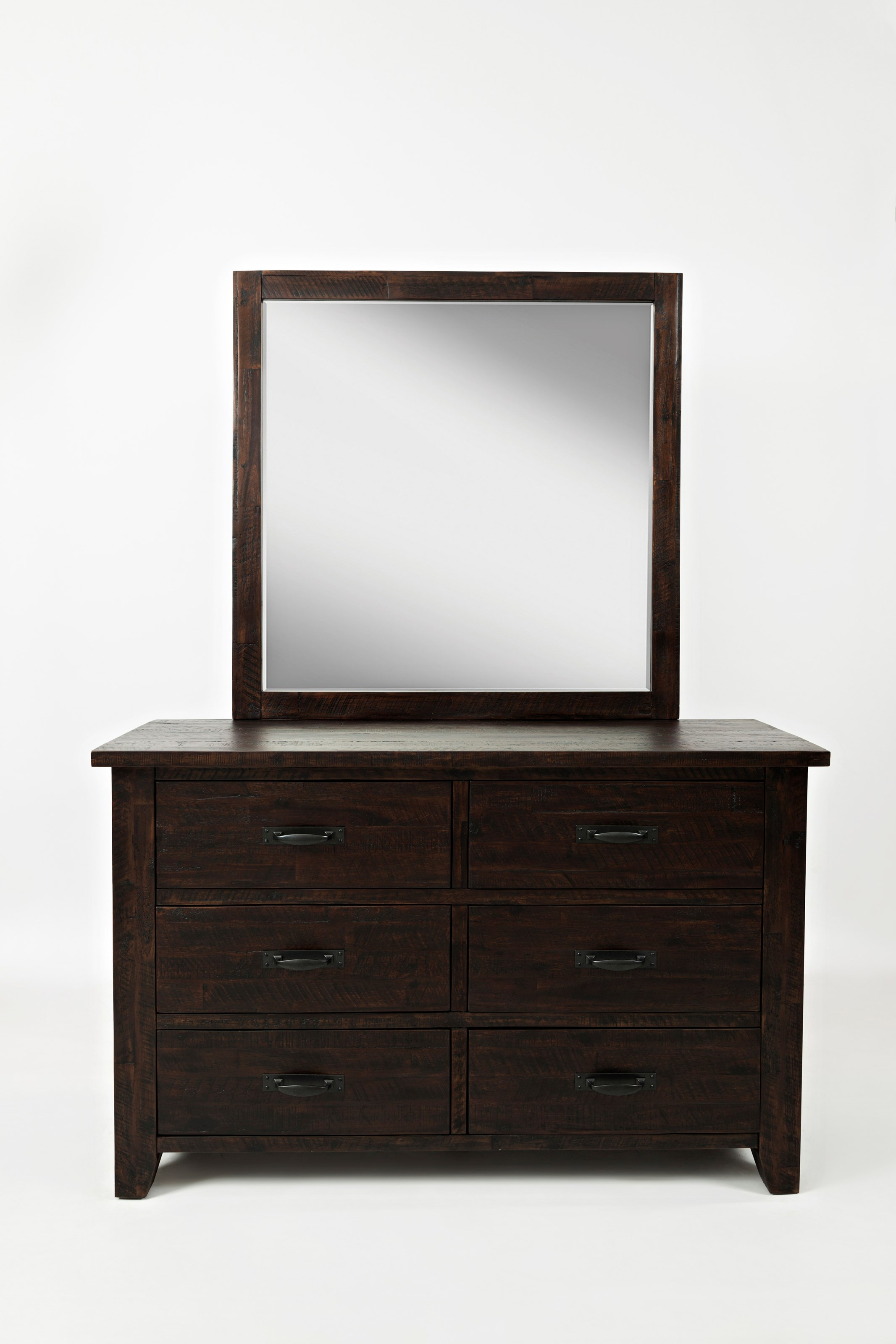 Jackson Lodge Double Dresser and Studio Mirror by Jofran at Stoney Creek Furniture