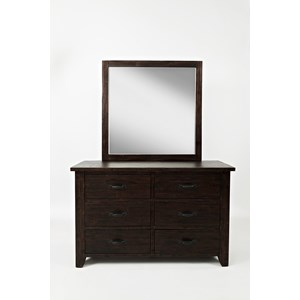 Jofran Jackson Lodge Double Dresser and Mirror