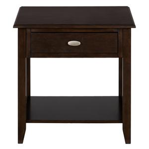 End Table with 1 Drawer and Shelf