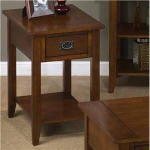 Chairside Table with 1 Drawer and 1 Shelf