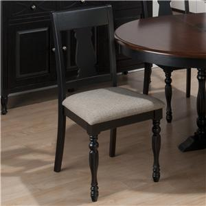 Splat Back Side Chair with Pilaster Legs