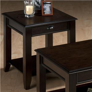 Jofran Bartley Oak End Table with One Drawer