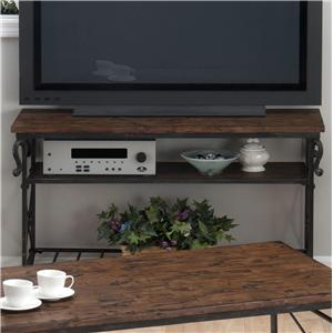 Jofran Rutledge Pine Sofa/Media Table