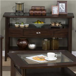 Jofran Montego Merlot Sofa Table