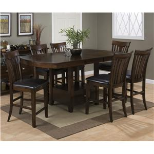 Jofran Mirandela Birch Counter Height Dining Table Set