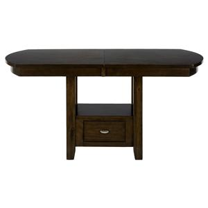 Dining/Counter Height Table with Storage Base