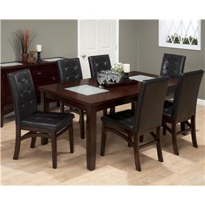 7 Piece Dining Set with Tufted Parson Chair