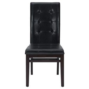 Tufted Parson Chair with Shaped Stretchers
