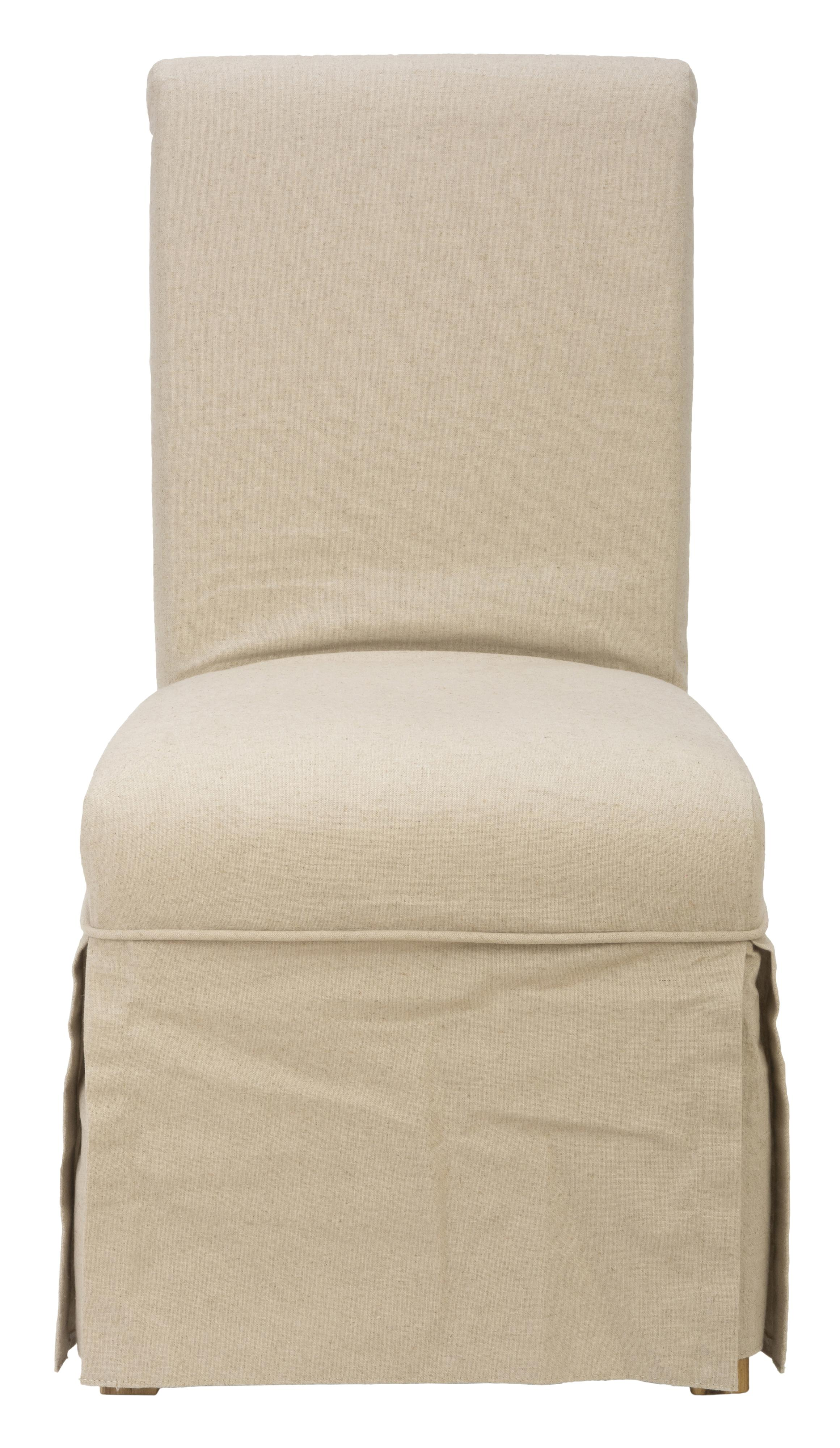 Slater Mill Pine Slipcover Skirted Parson Chair by Jo Furniture Co. at Ruby Gordon Home