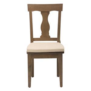 Jofran Slater Mill Pine Reclaimed Pine Splat Back Dining Chair