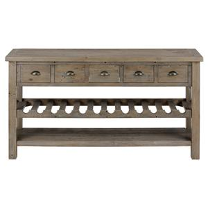 Jofran Slater Mill Pine Wine Rack and Server