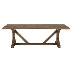 Jofran Slater Mill Pine Reclaimed Pine Trestle Dining Table