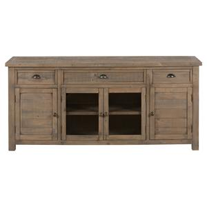 "Jofran Slater Mill Pine 70"" Reclaimed Wood Media Unit"