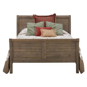 Jofran Slater Mill Pine Queen Size Sleigh Bed