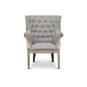 Jofran Accent Chairs Paxton Exposed Wood Chair