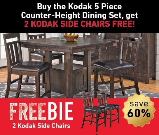 Kodak Kodak 5-Piece Dining Set with Freebie! by Jofran at Morris Home