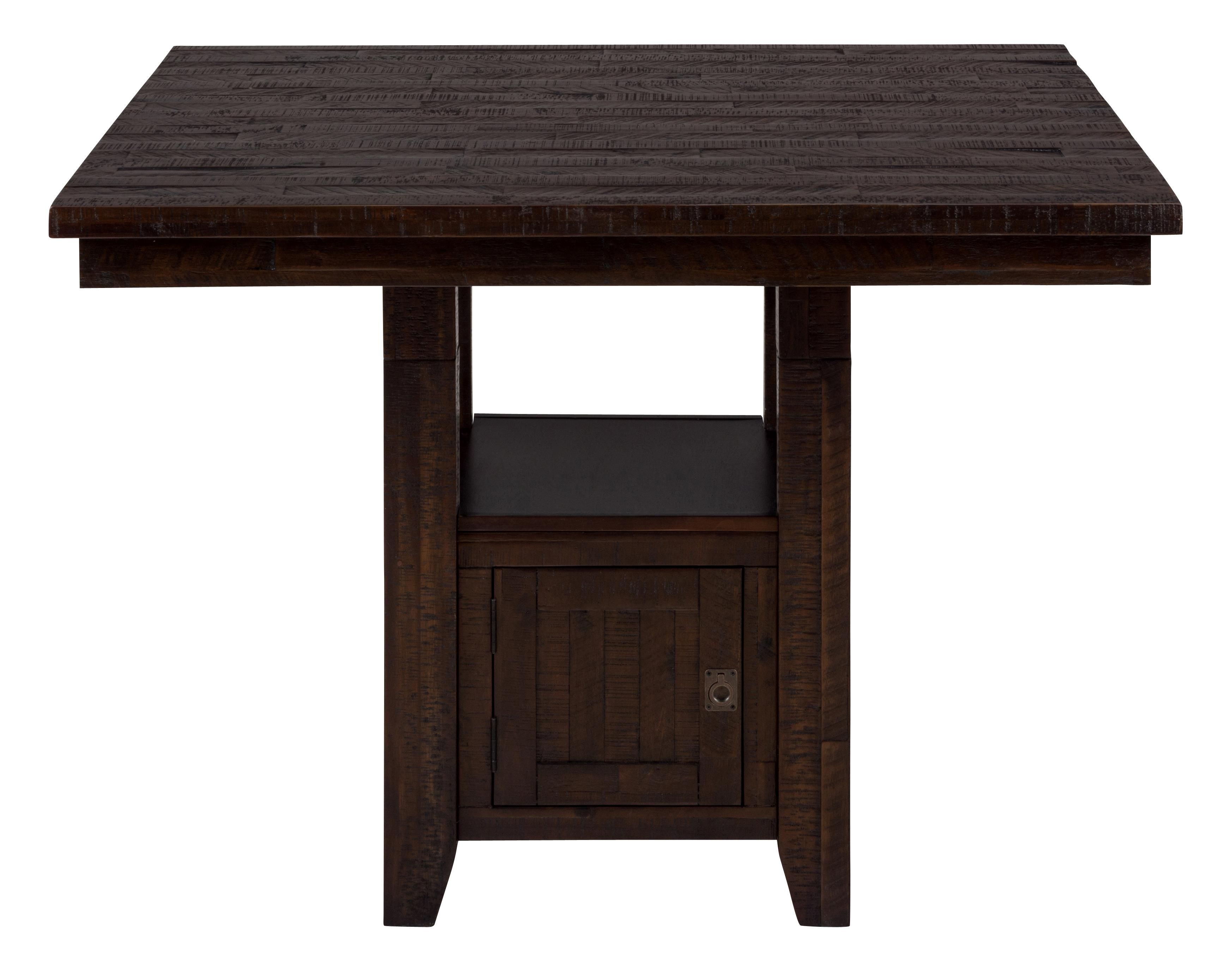 Kona Grove Fixed Counter Table with Storage Base by Jofran at Lapeer Furniture & Mattress Center