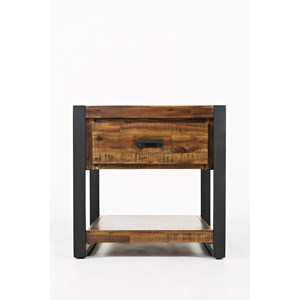 Jofran Loftworks End Table with Drawer