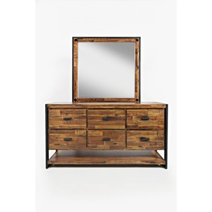 Jofran Loftworks Dresser and Mirror