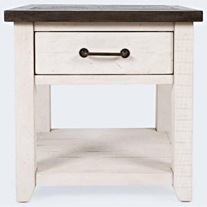 End Table-Vintage White