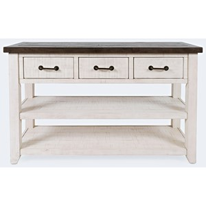 3 Drawer Console-Vintage White