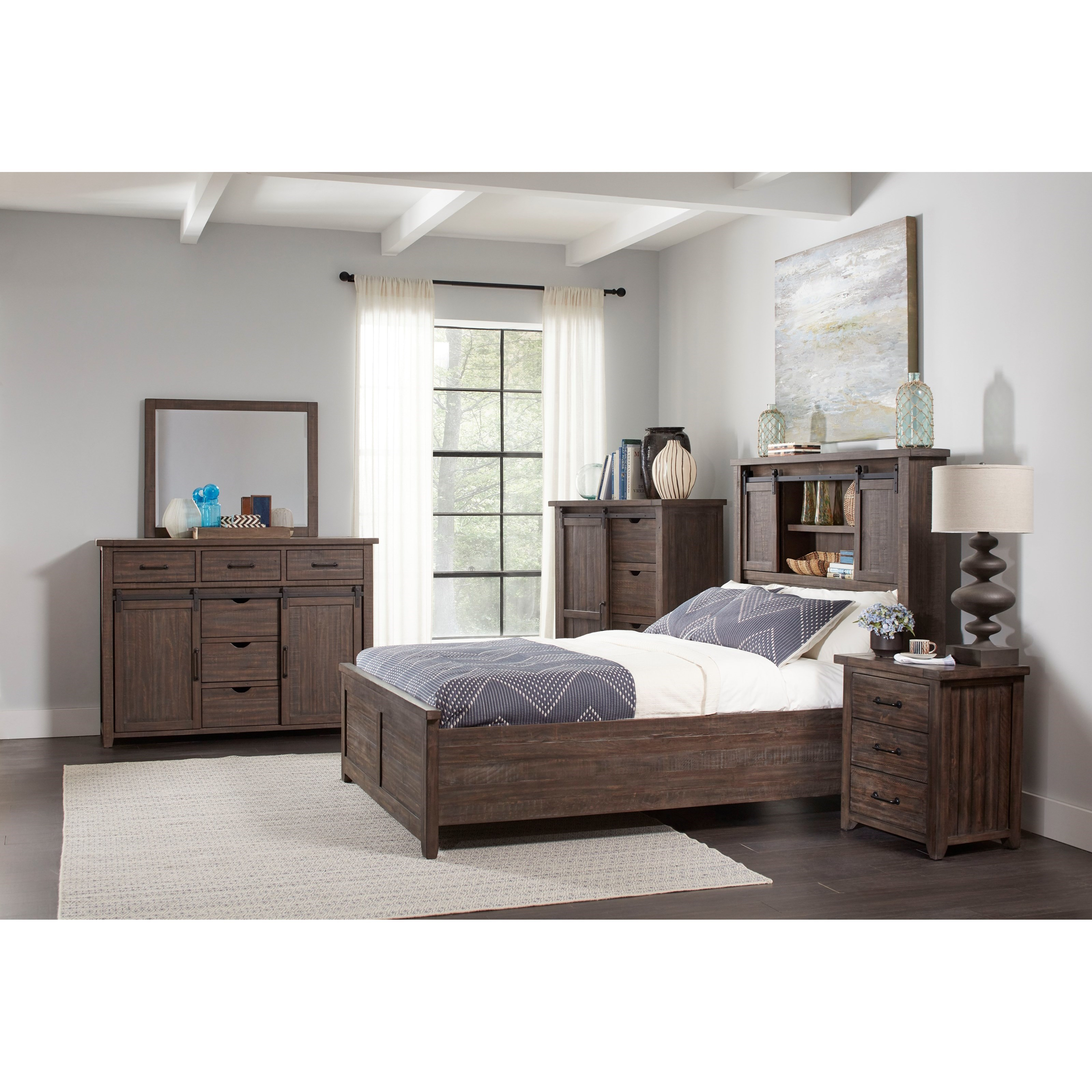 Madison County King Bedroom Group by Jofran at Stoney Creek Furniture
