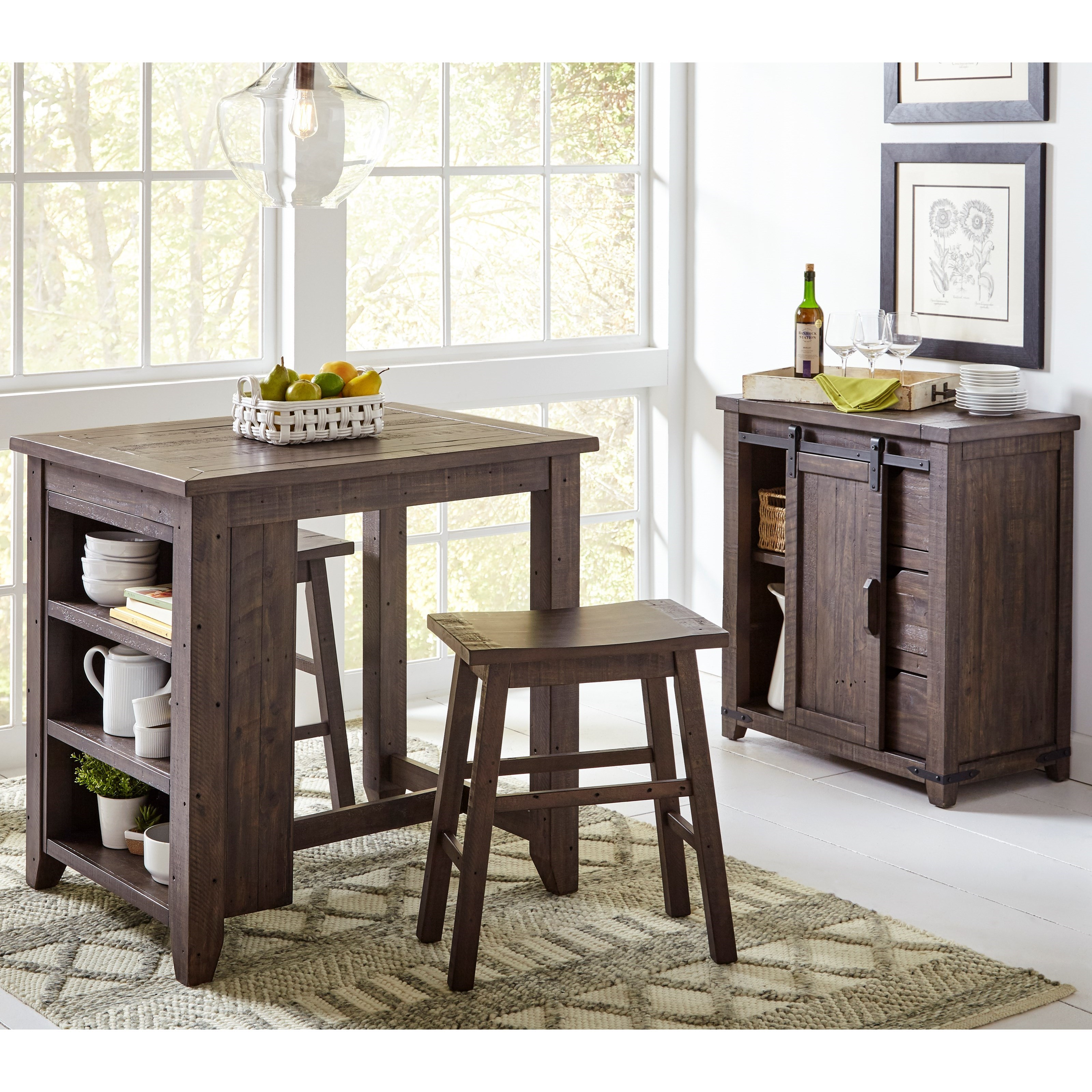 Madison County 3 Piece Counter Height Table Set by Jofran at Stoney Creek Furniture