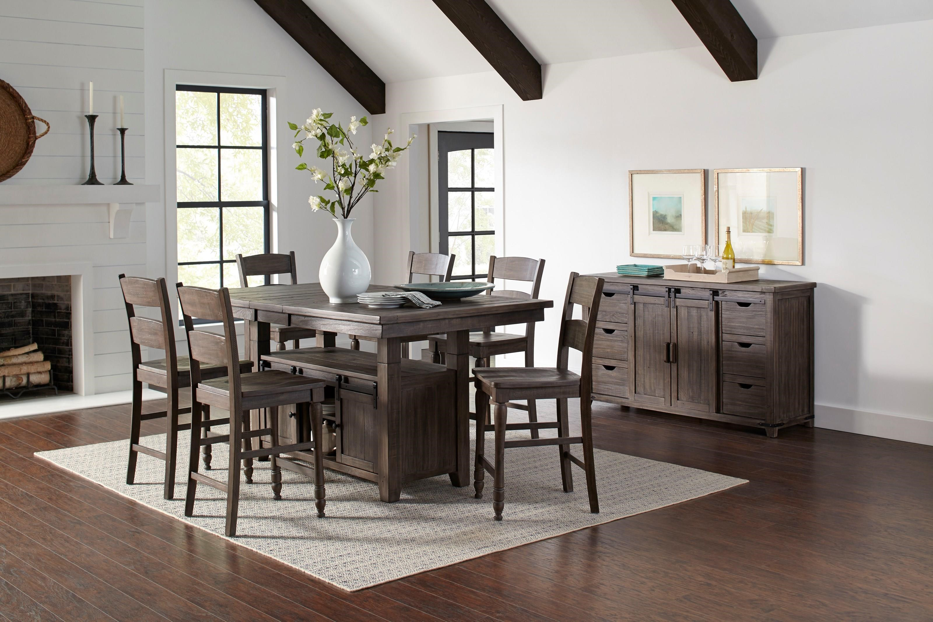 Madison County 7-Piece Adjustable Height Dining Set by Jofran at Rife's Home Furniture