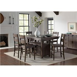 7PC Adjustable Height Dining Table & Chair Set