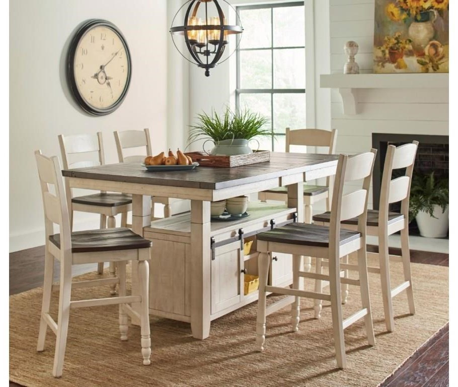 Madison County 7-Piece Counter Table and Chair Set by Jofran at Beck's Furniture