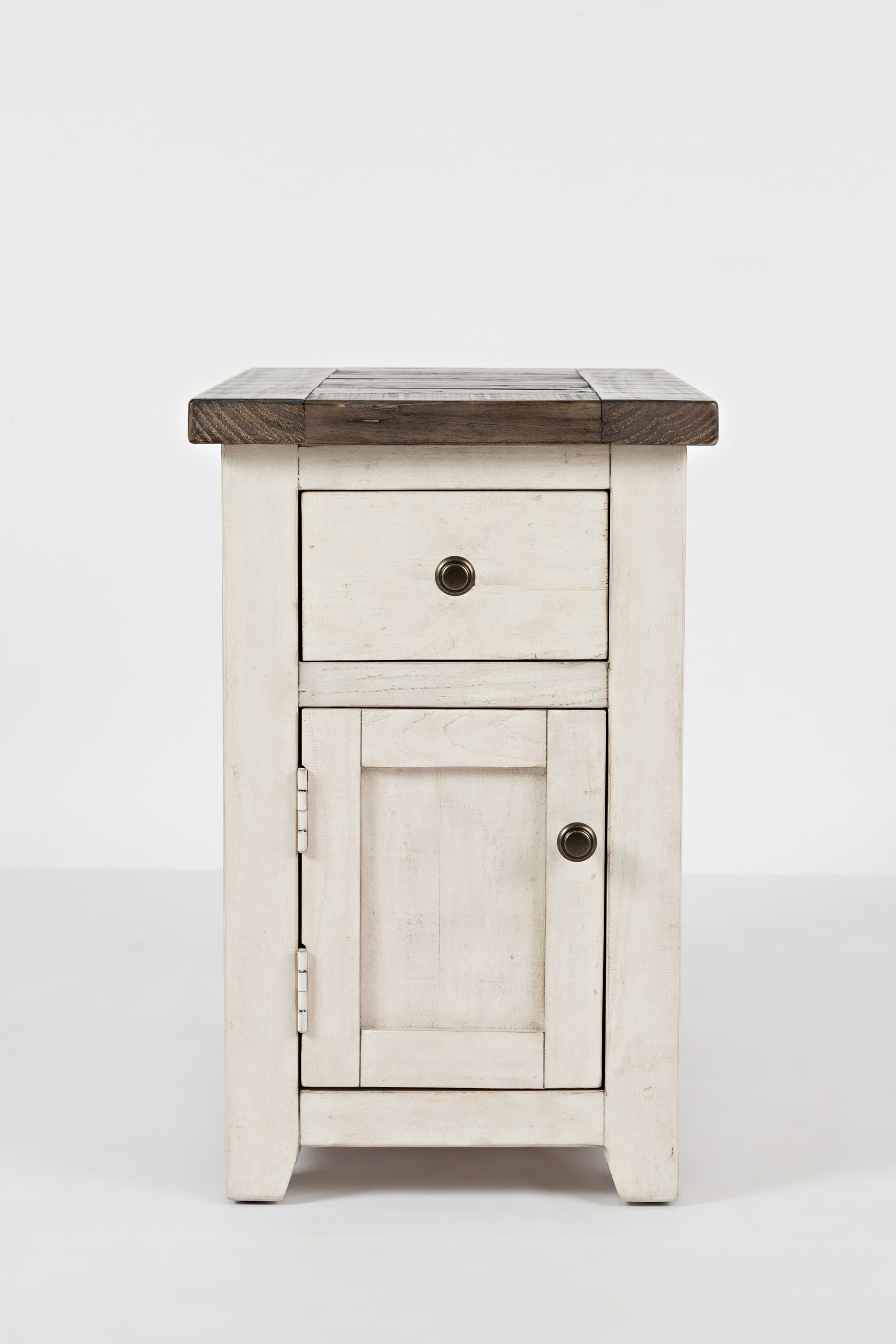 Canton White Chairside Table at Walker's Furniture