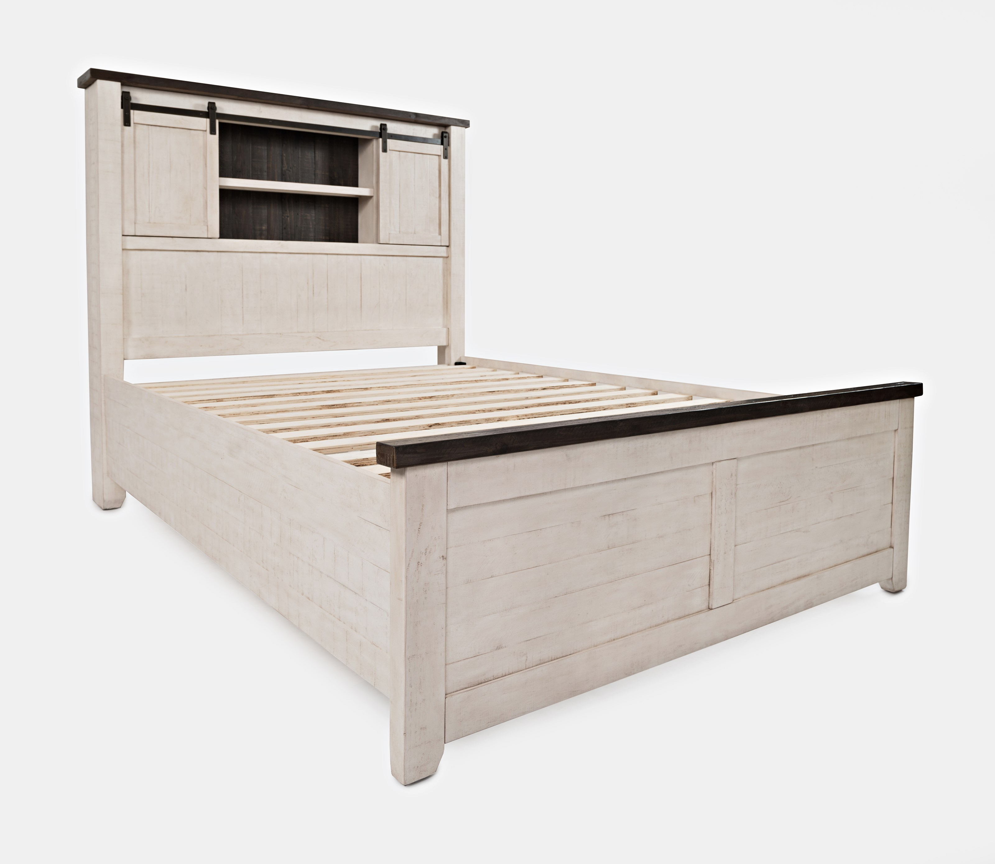 Madison County Queen Barn Door Bed by Jofran at Lapeer Furniture & Mattress Center