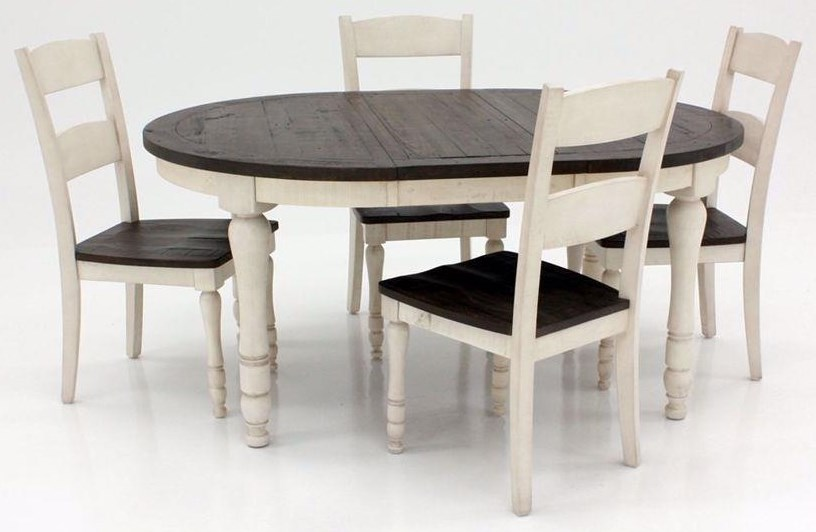 Canton White 5 Piece Dining Set at Walker's Furniture