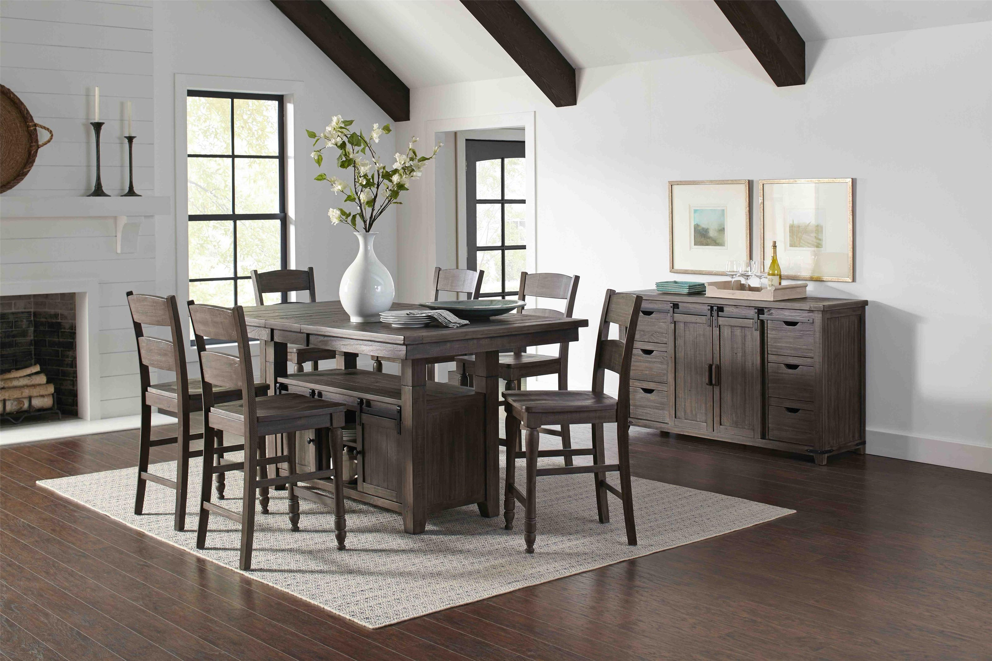 Madison County Counter Height Table & 6 Stools at Bennett's Furniture and Mattresses