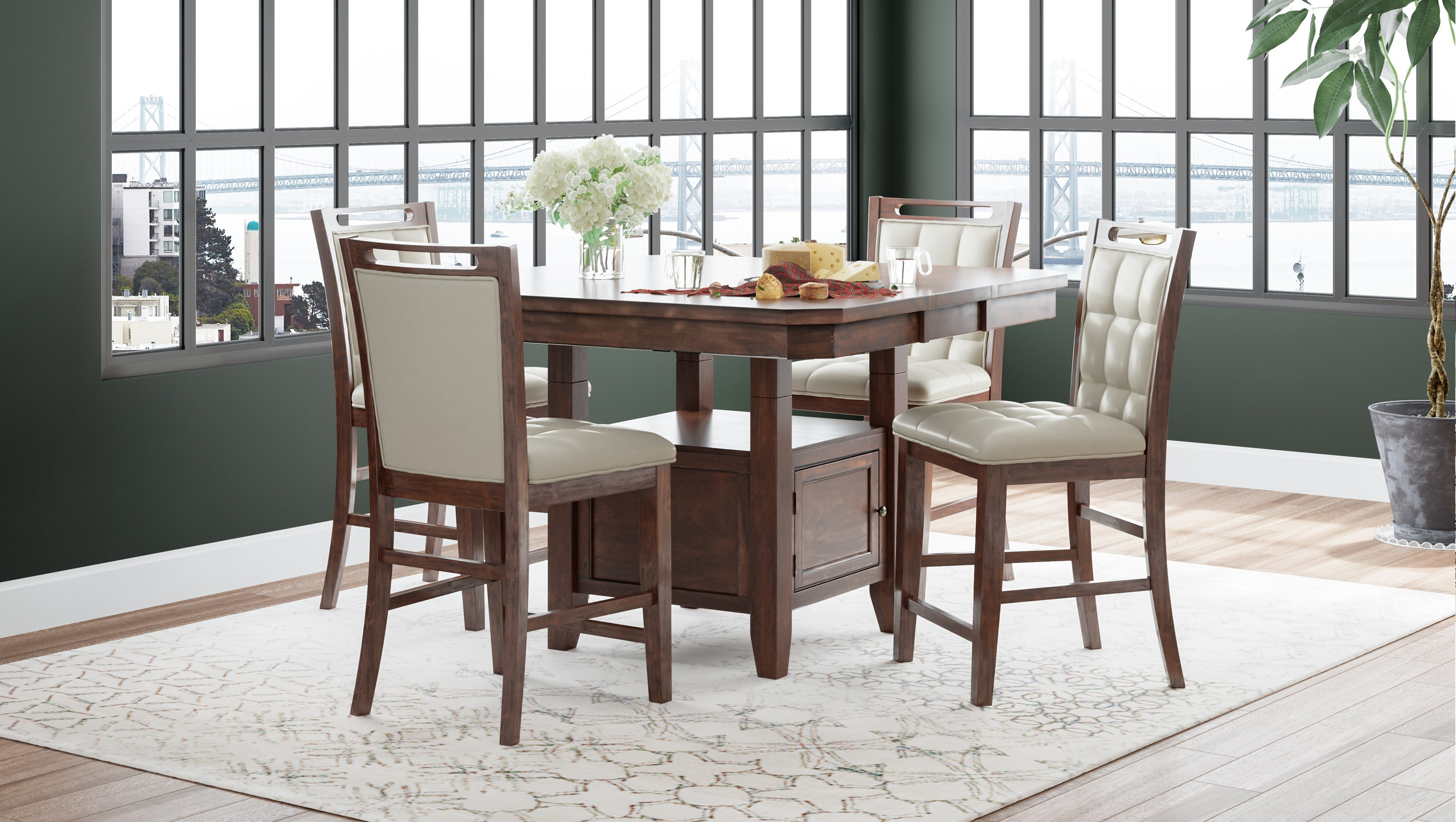 Manchester Counter Height Dining Set by Jofran at Jofran