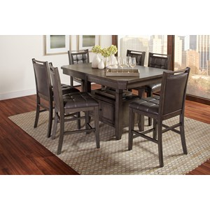 7 Piece Counter Table and Chair Set
