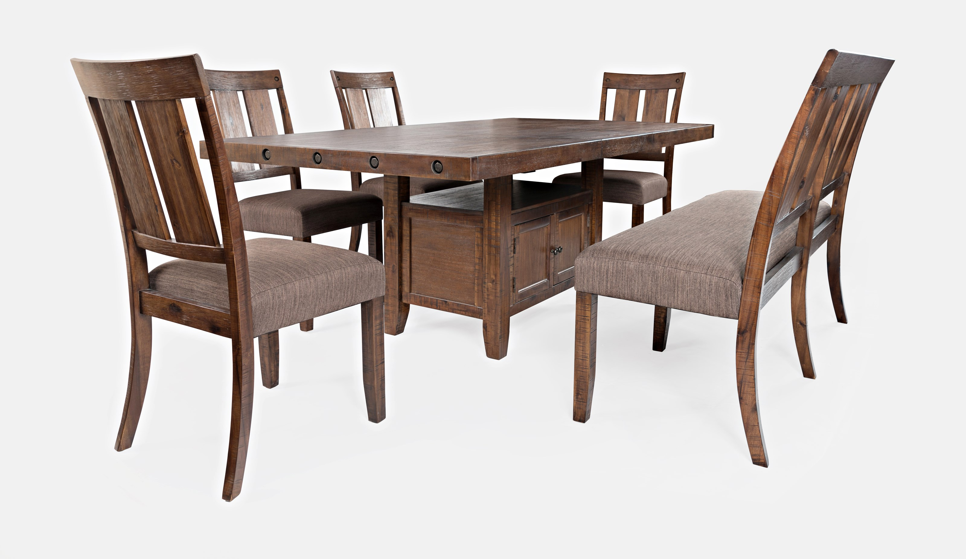 Mission Viejo Table and Chair Set with Bench by Jofran at Mueller Furniture