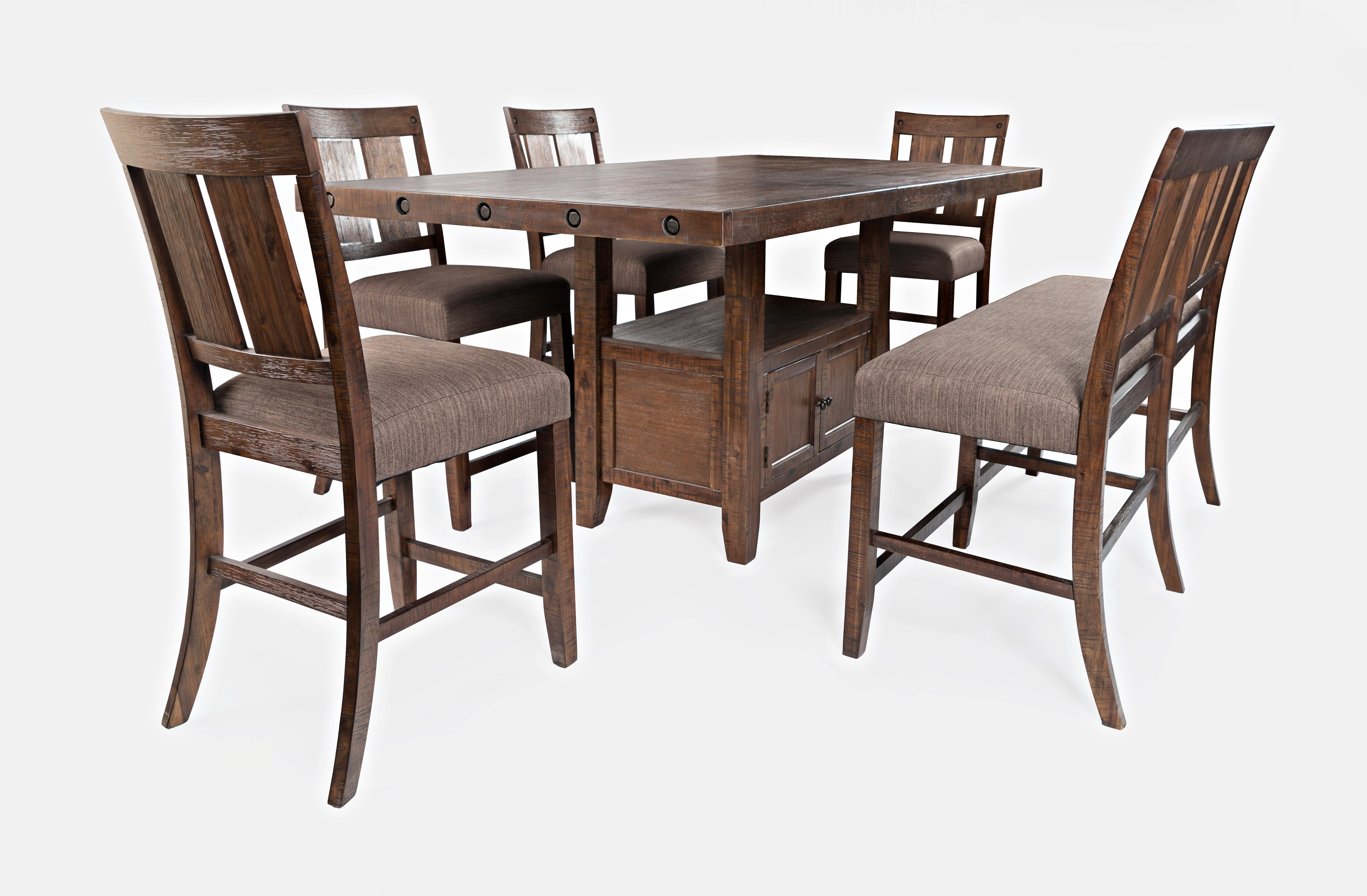 Mission Viejo Counter Height Table and Chair Set by Jofran at Jofran