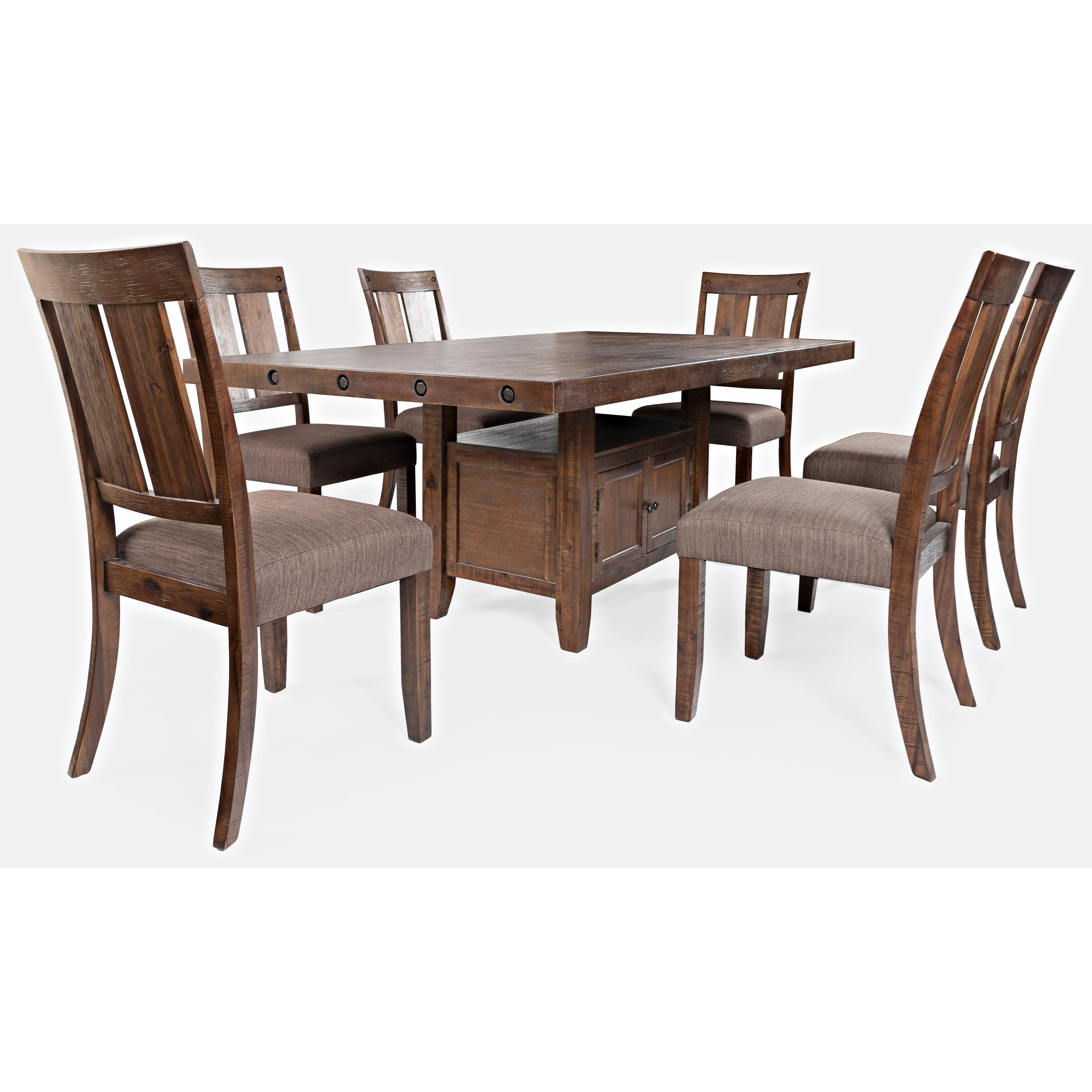 Mission Viejo 7-Piece Table and Chair Set by Jofran at Jofran
