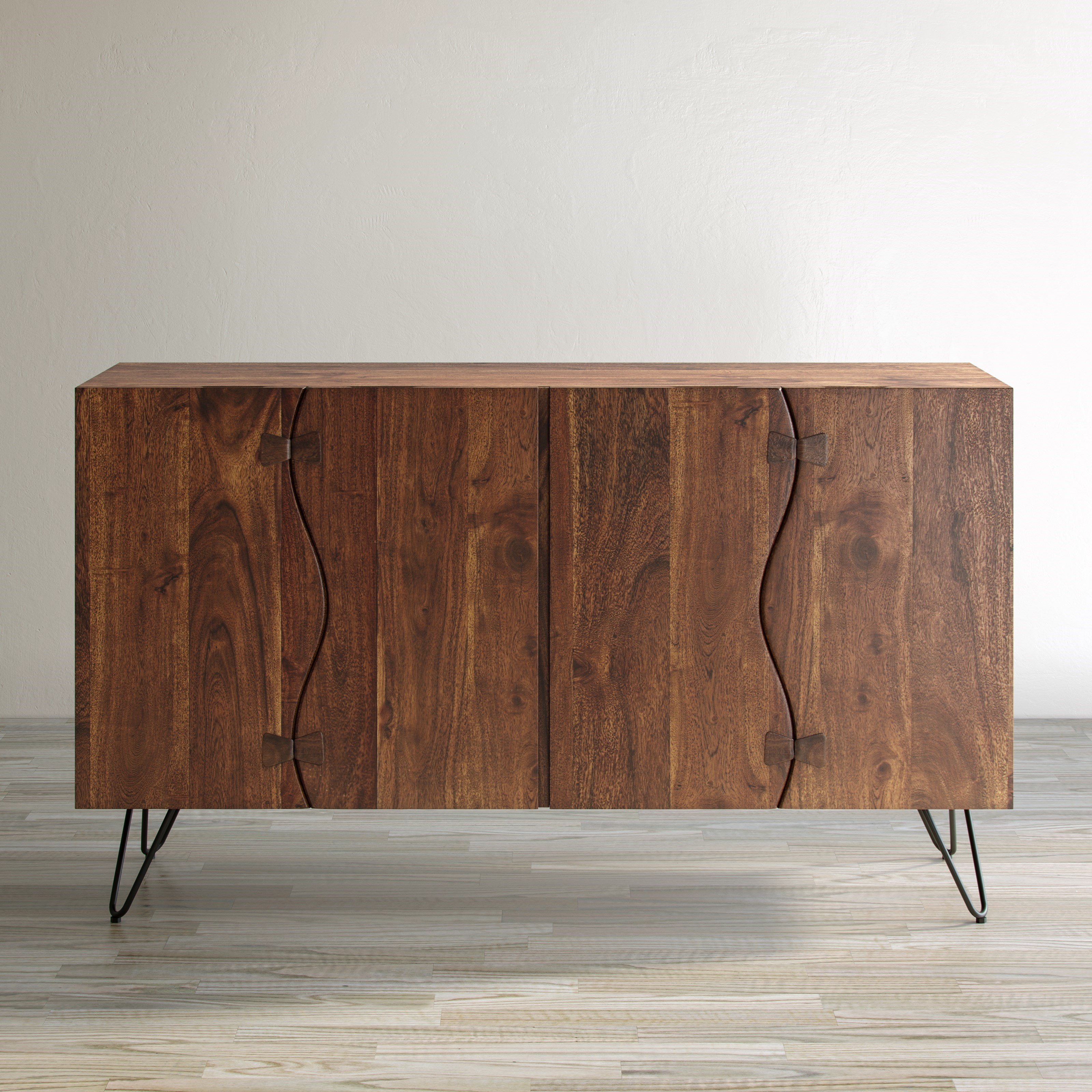 Nature's Edge Sideboard with 4 Live Edge Doors by Jofran at SuperStore