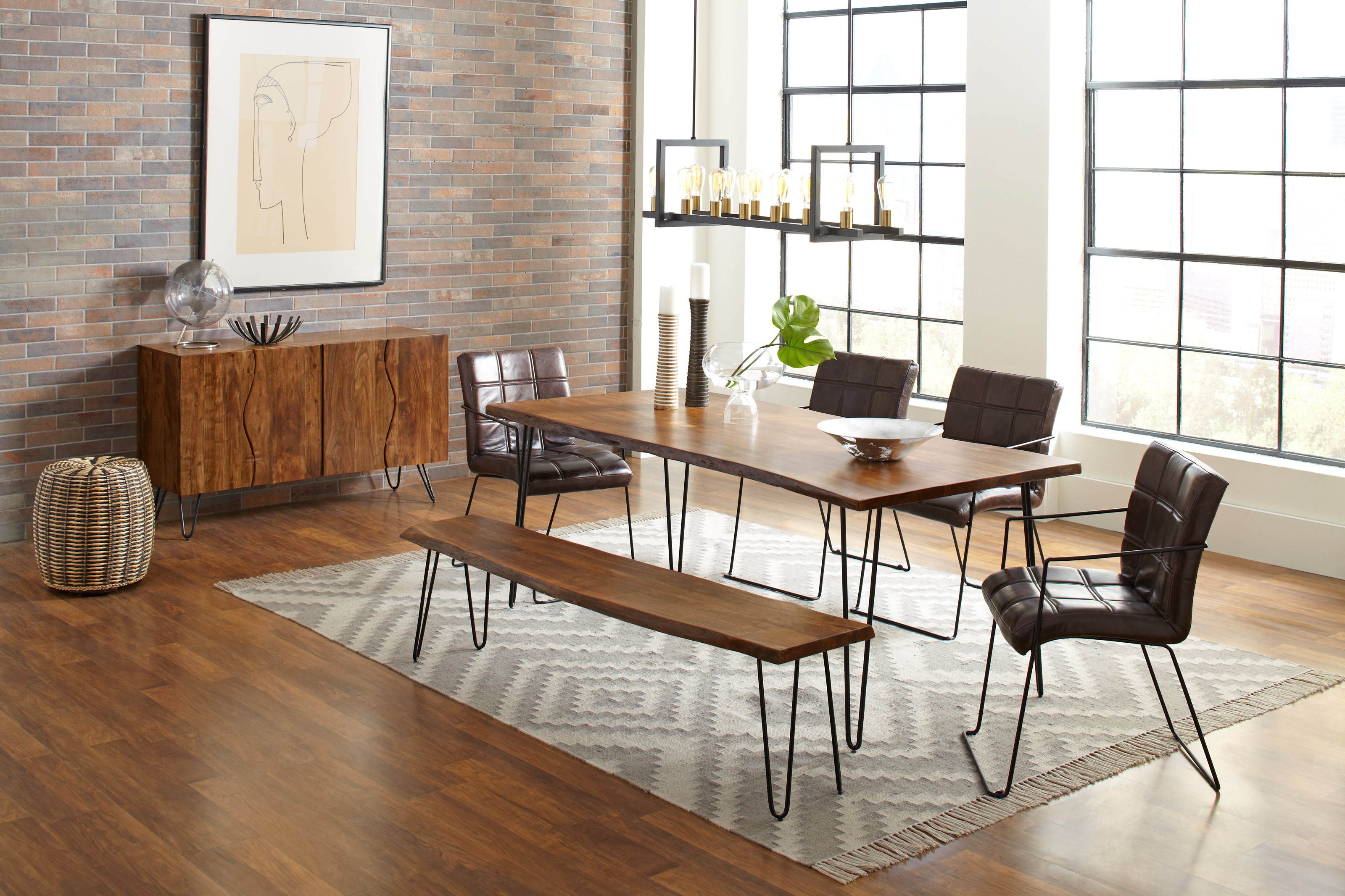 """Nature's Edge 79"""" Dining Table and Chair Set by Jofran at Stoney Creek Furniture"""