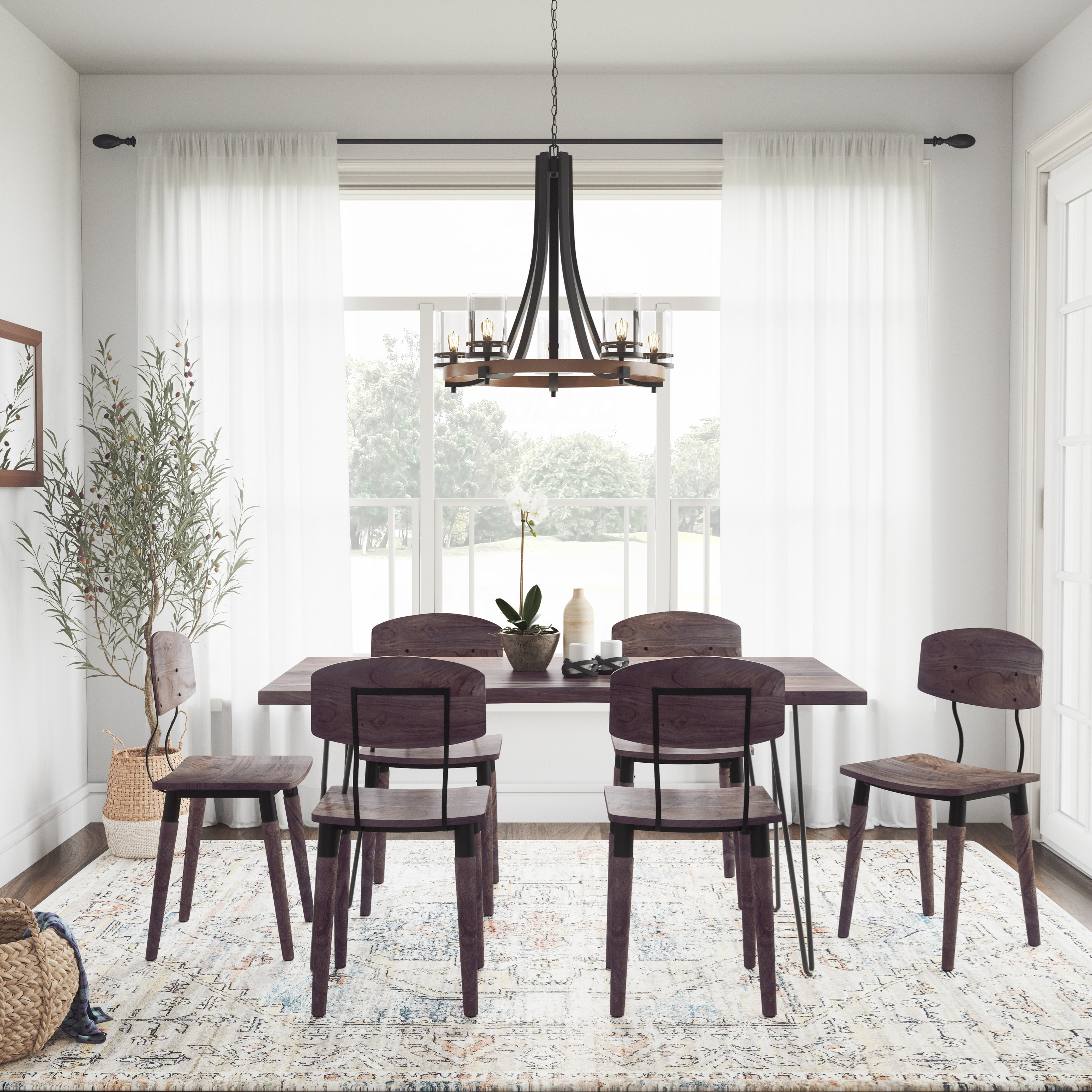 Nature's Edge 7-Piece Table and Chair Set by Jofran at Jofran