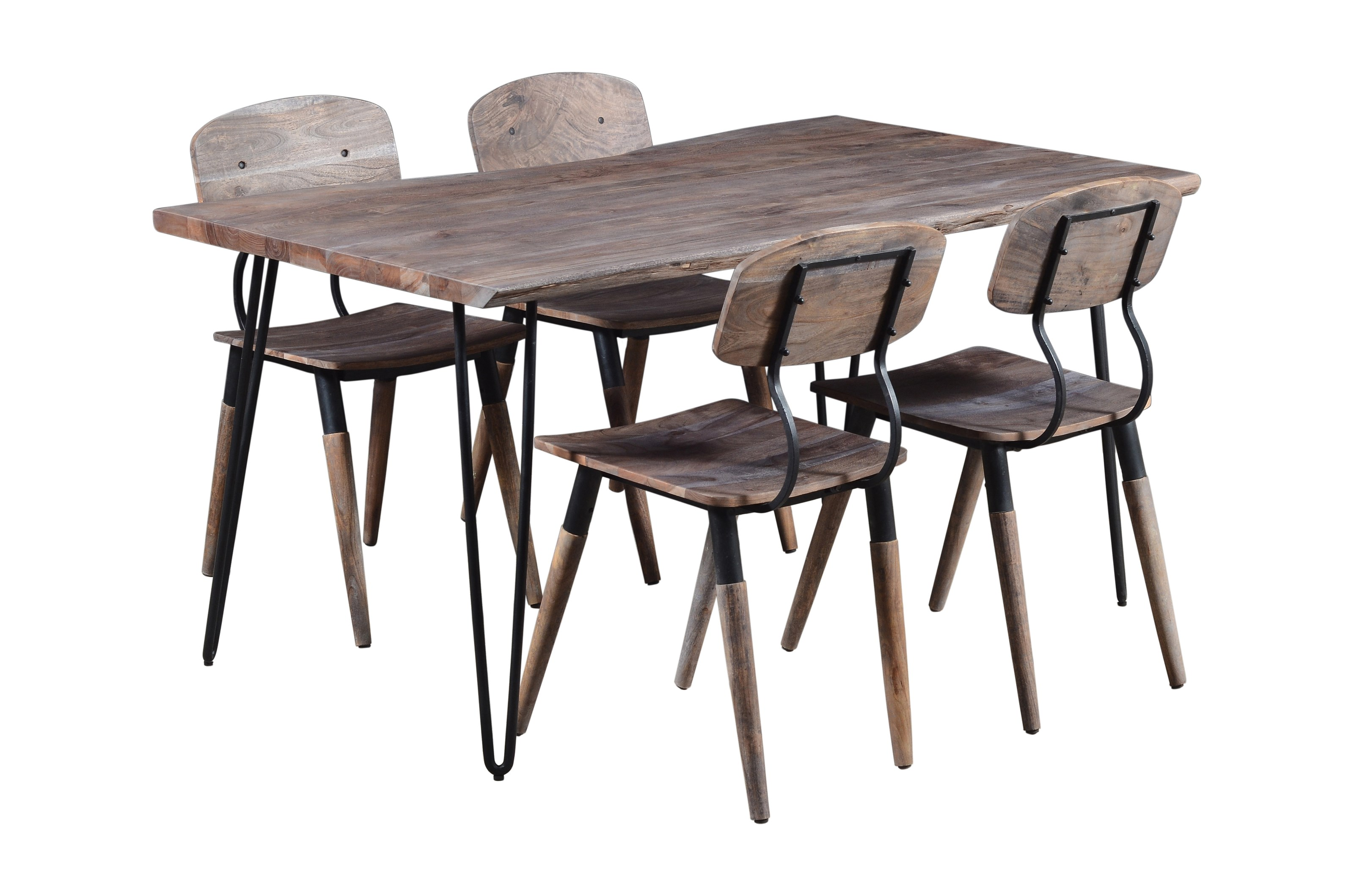 """Nature's Edge 60"""" Dining Table with 4 Chairs by Jofran at Jofran"""