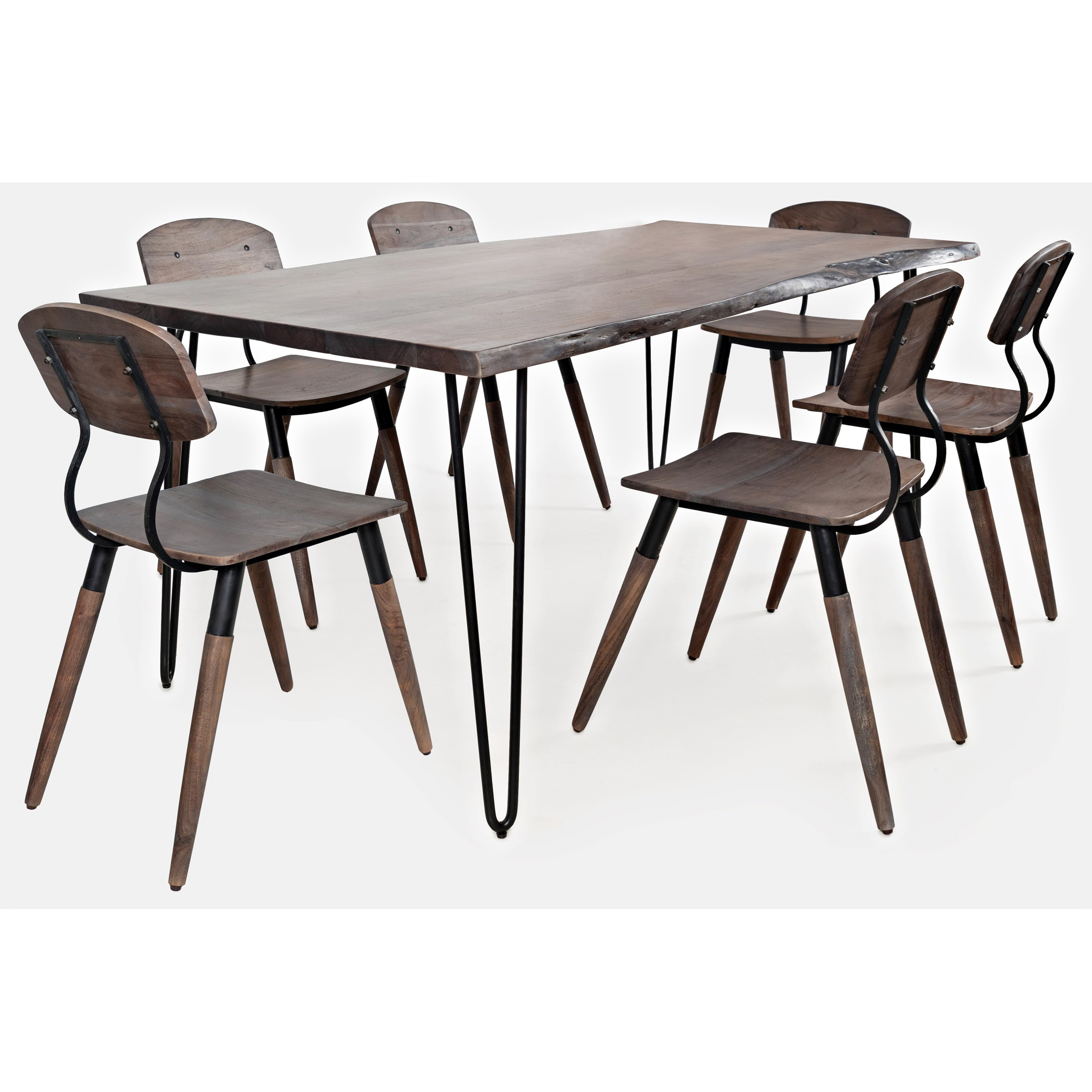 Nature's Edge 7-Piece Table and Chair Set by Jofran at H.L. Stephens