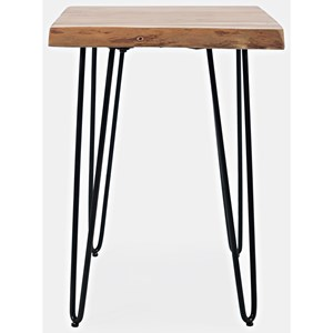 Live Edge Chairside Table