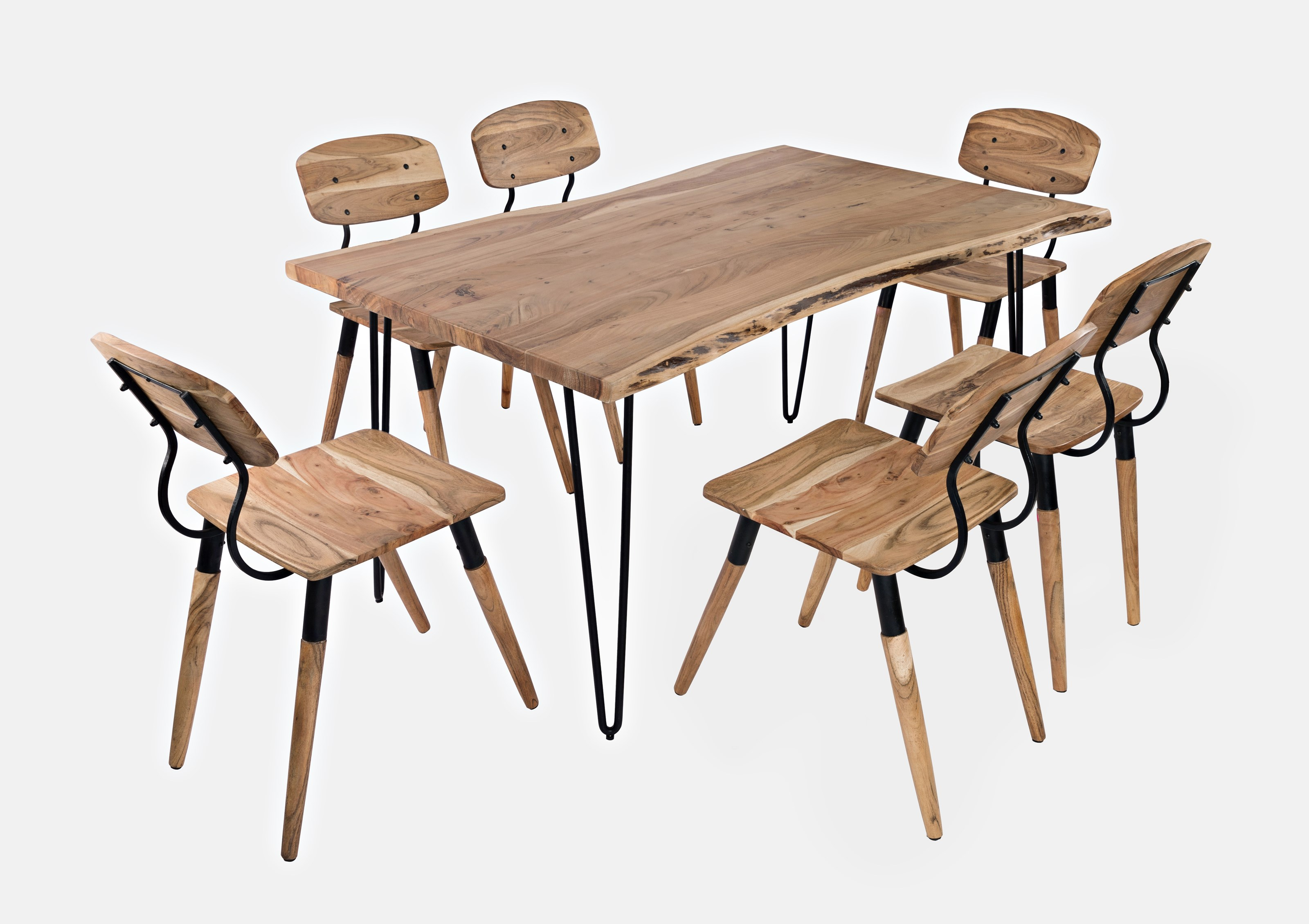 """Nature's Edge 60"""" Dining Table with 6 Chairs by Jofran at Jofran"""