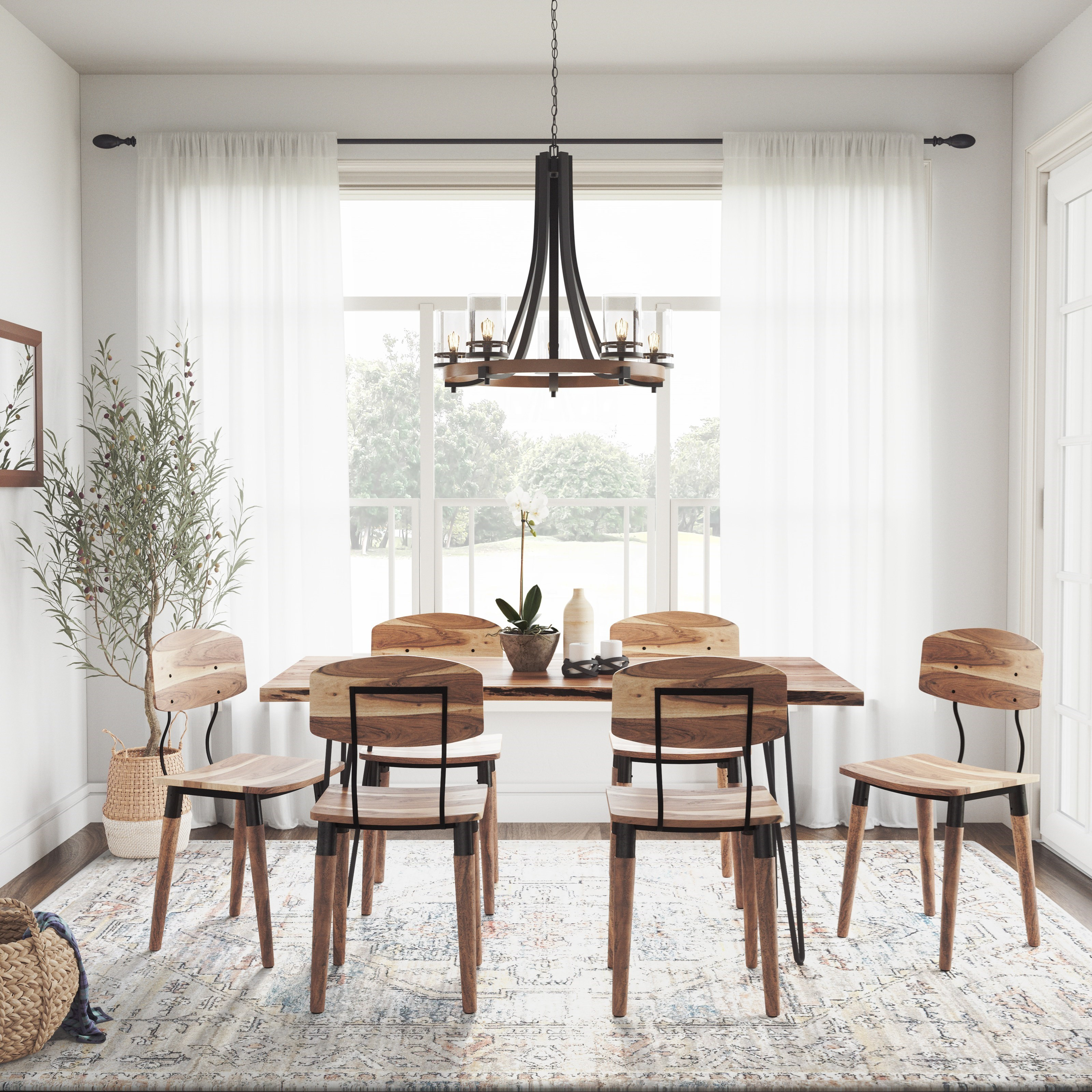 Nature's Edge 7-Piece Table and Chair Set by Jofran at Sparks HomeStore