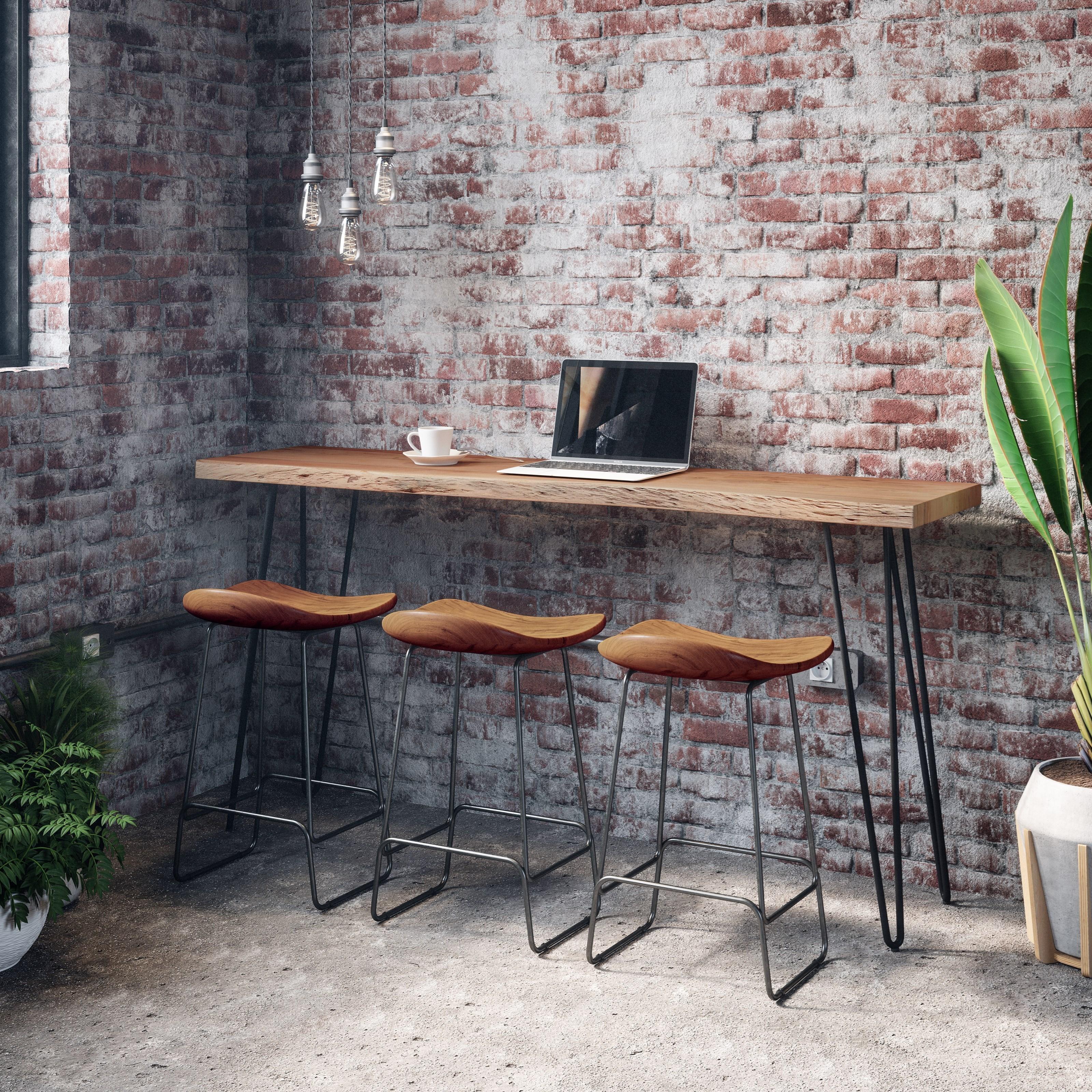 Nature's Edge 4-Piece Sofa Counter Table and Stool Set by Jofran at Jofran
